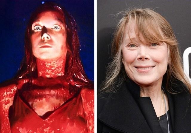 Antes y después pequeños películas de terror Carrie