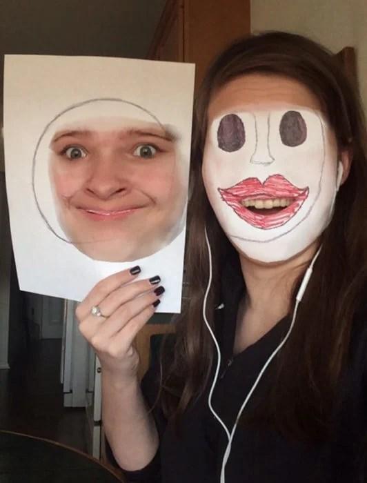 Face swap dibujo