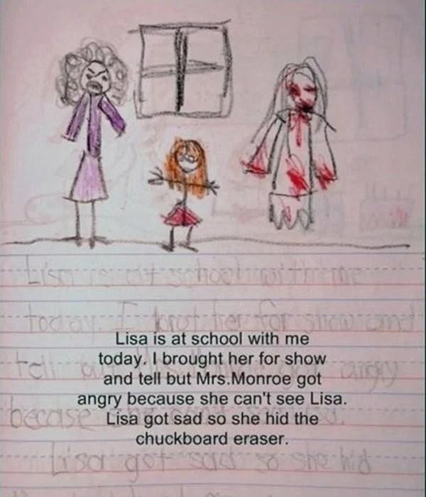 Diario de niña y amiga imaginaria muchísima sangre