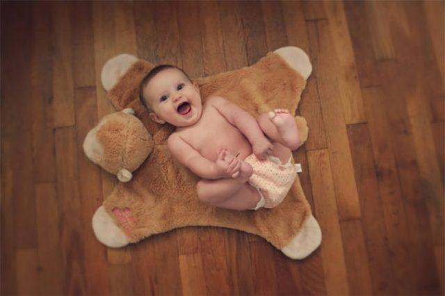 bebé tapete de chango