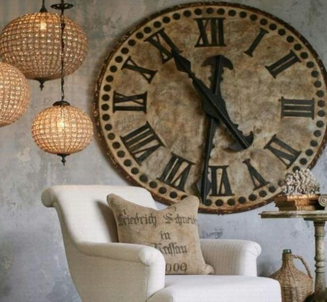 Decoración mala suerte hogar reloj estático