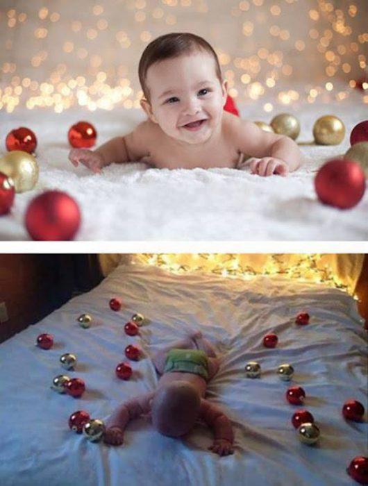 Foto bebé esferas fail