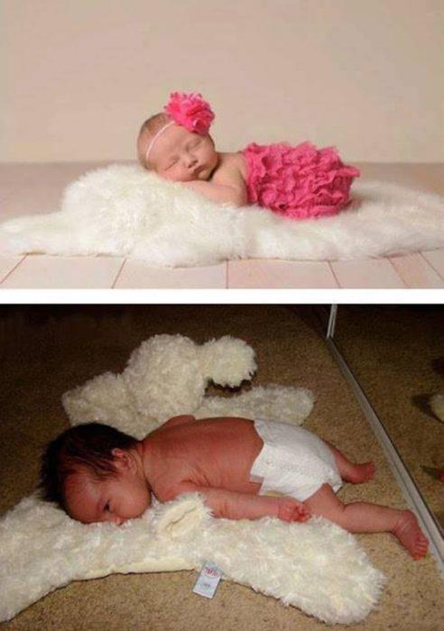 Foto bebé en tapete fail