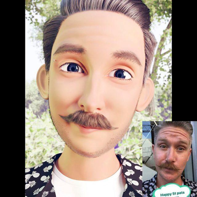 hombre con bigote transformado en personaje de Pixar
