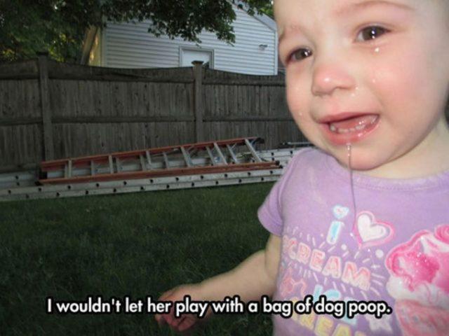 bebé haciendo berrinche