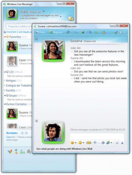messenger platicando chat