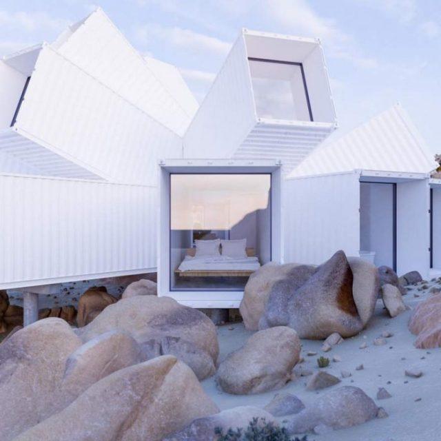 Casa hecha de contenedores