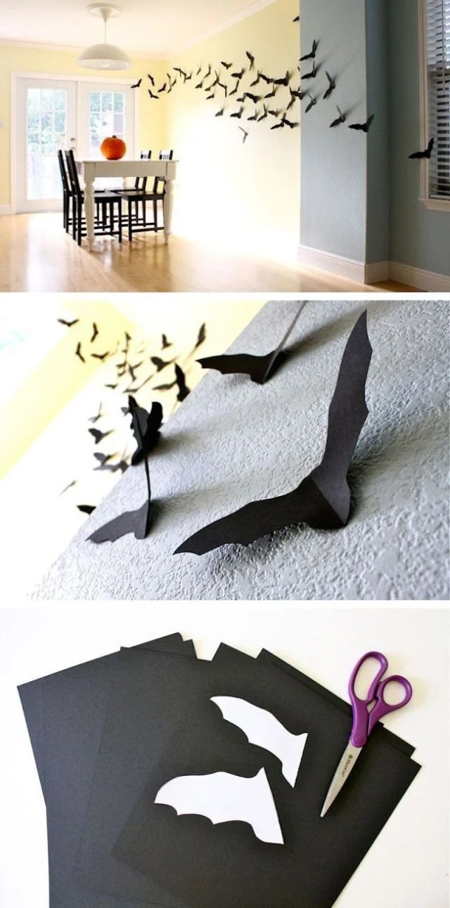 pared murciélago Halloween iniciativas DIY