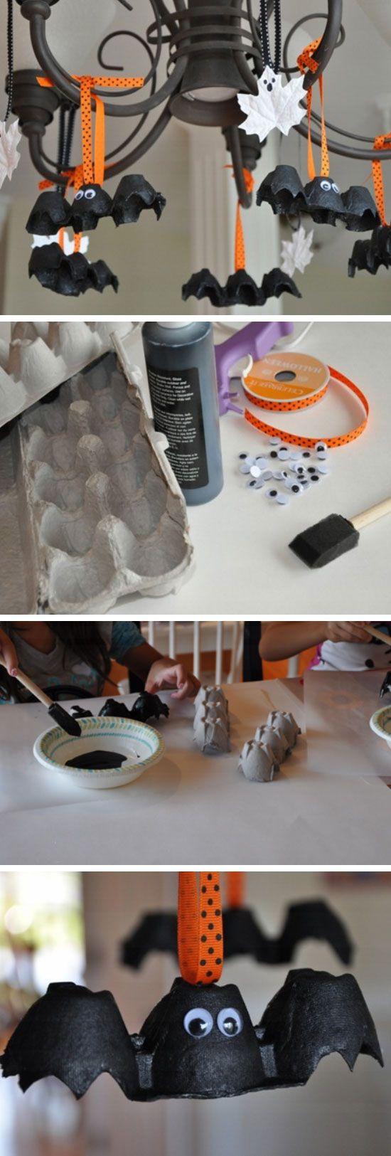 Halloween iniciativas DIY murciélagos