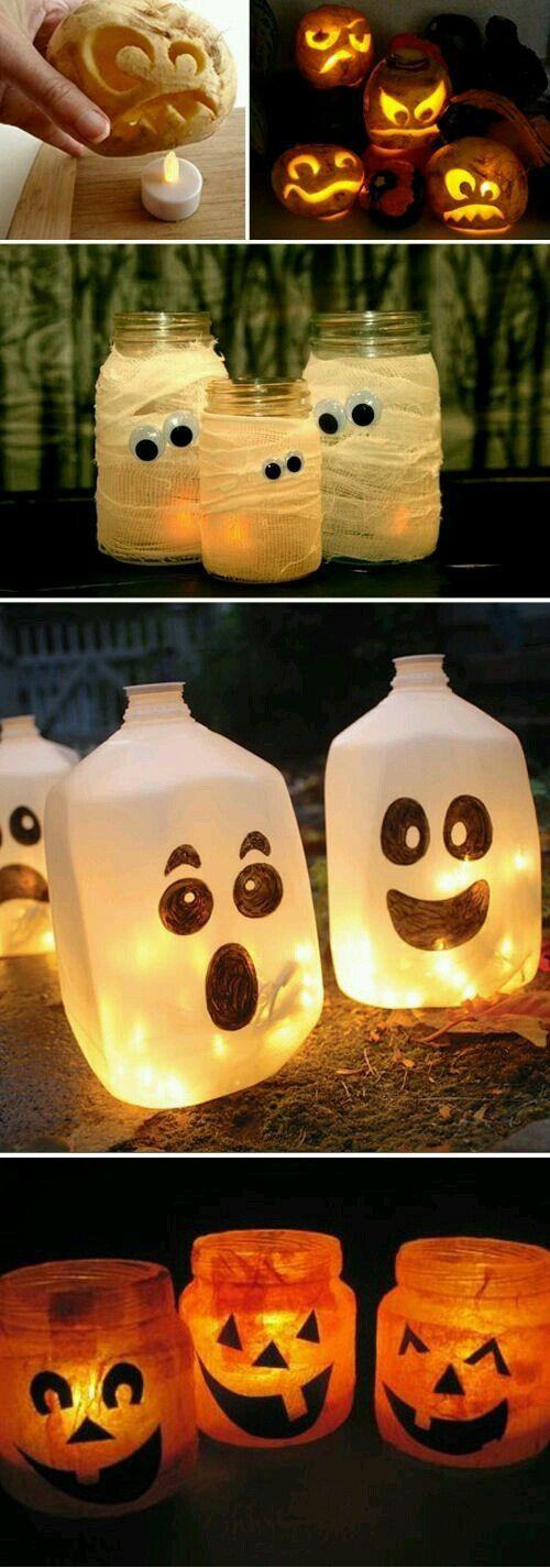 iluminación de terror Halloween iniciativas DIY