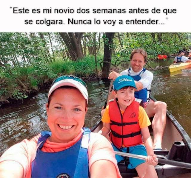 foto de 3 personas en una canoa