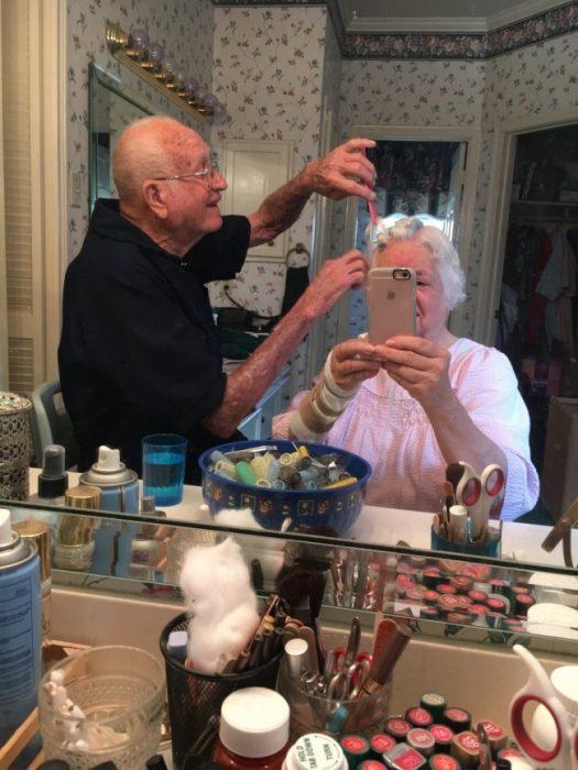abuelitos selfie