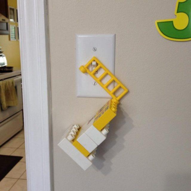 cómo apagar la luz con legos
