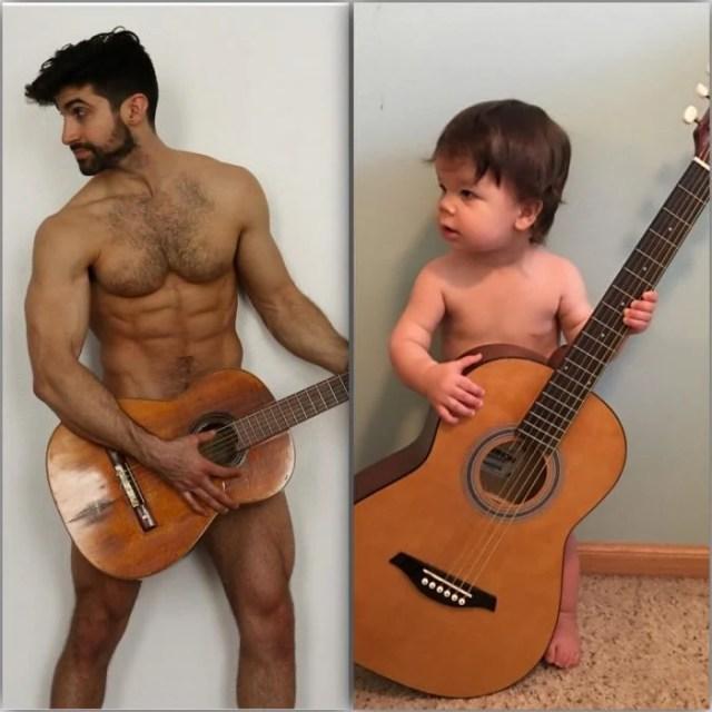 ¡Mamá! ya se tocar la guitarra