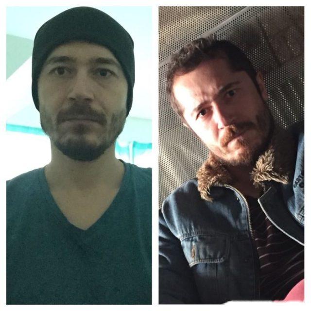 sin barba y con barba se ve mejor