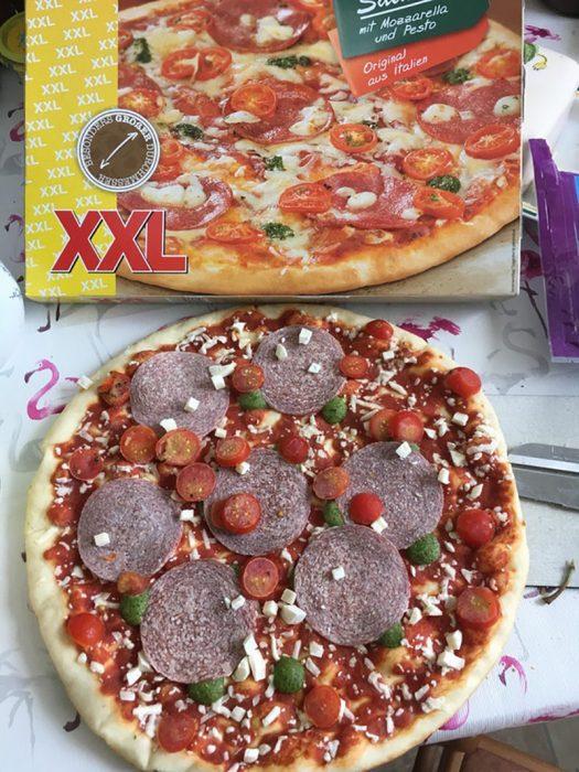 pizza con poco queso