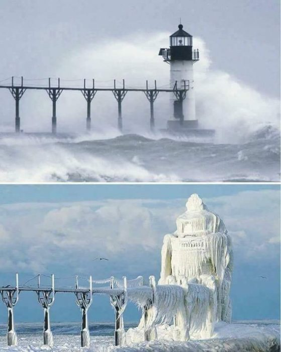 increíbles fotos del frío