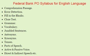 Federal Bank PO Previous Papers   Download Federal Bank PO Model Papers