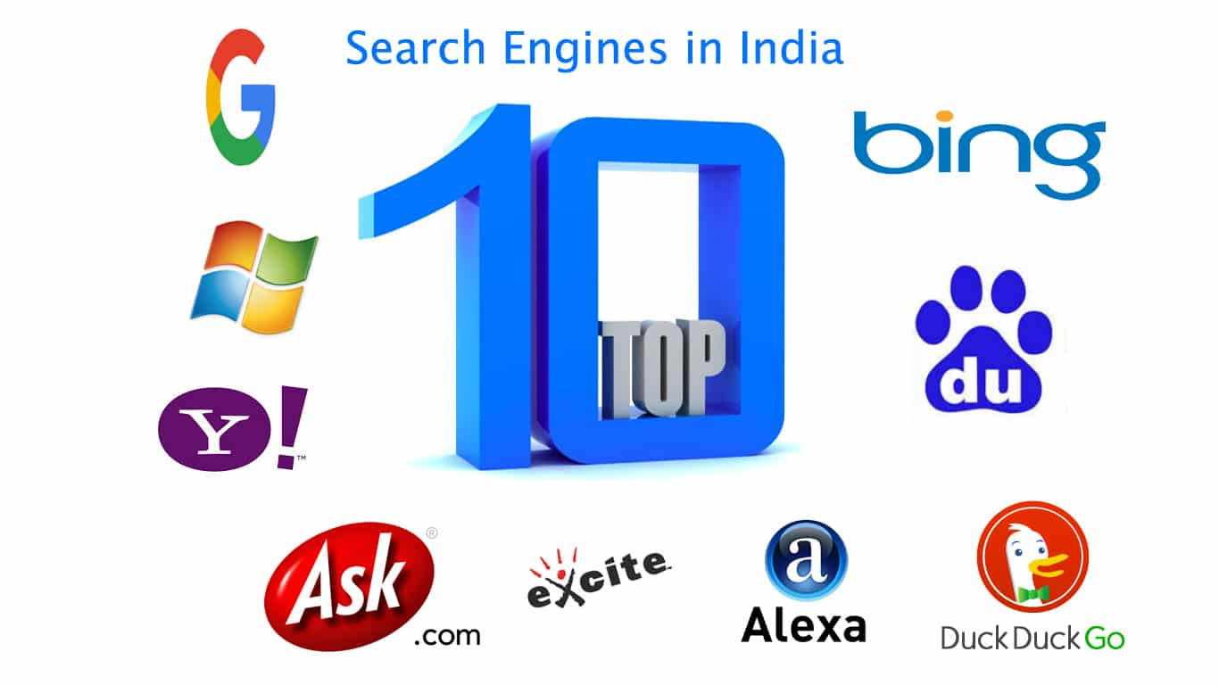 Top 10 Search Engines in India   The Best & Most Popular Web Search Engines