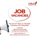 UBA Bank Graduate Trainee Recruitment 2018/2019 | See 19 Vacant Positions Today Here!