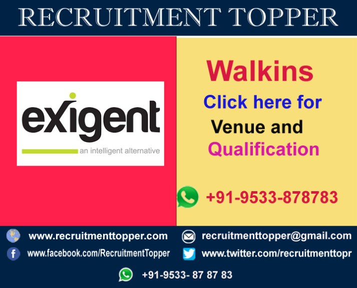 exigent-group-walkins-bangalore