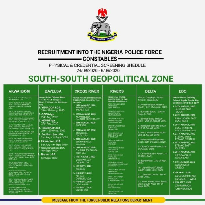 Nigeria Police Shortlisted Candidates 2020 - Download PDF List 2