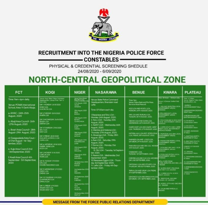 Nigeria Police Shortlisted Candidates 2020 - Download PDF List 1