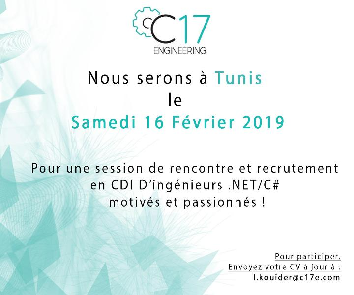 C17 Engineering // organise [un session de Recrutement]