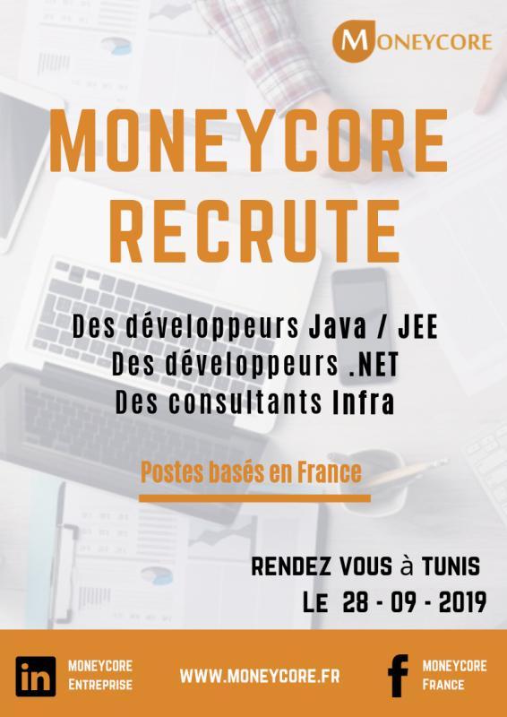 MONEYCORE organise [une nouvelle session de recrutement.]