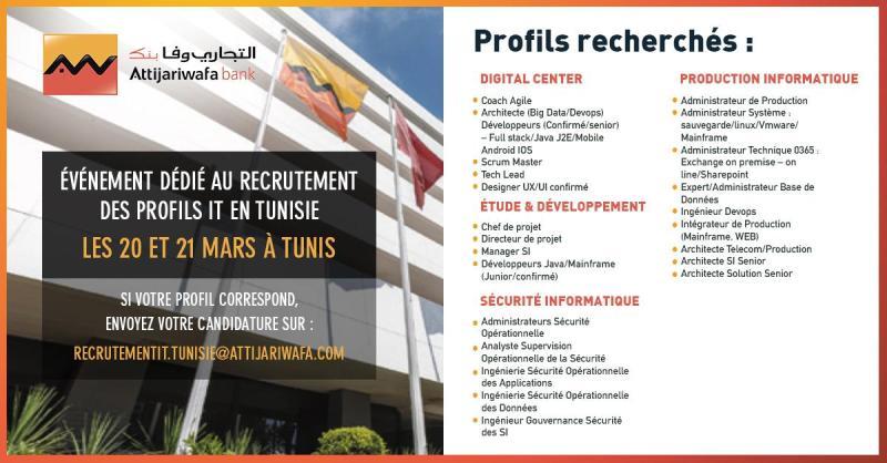 Attijariwafa Bank / organise  [un événement dédié au recrutement]