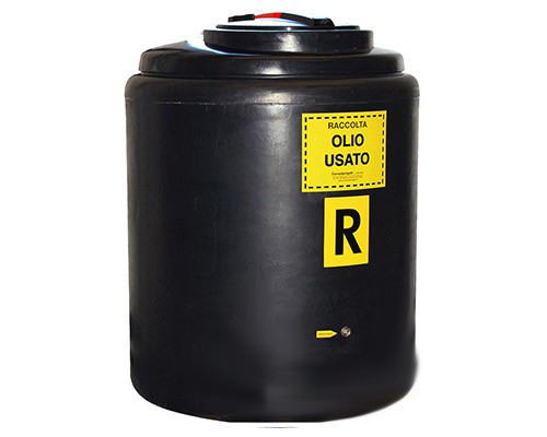 Contenitore a doppia parete in PE per oli lubrificanti e liquidi usati 3005001100lt  Recu