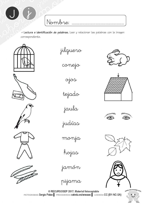 Lectoescritura Recursosep Letra J Cartilla Lectura Actividades 001