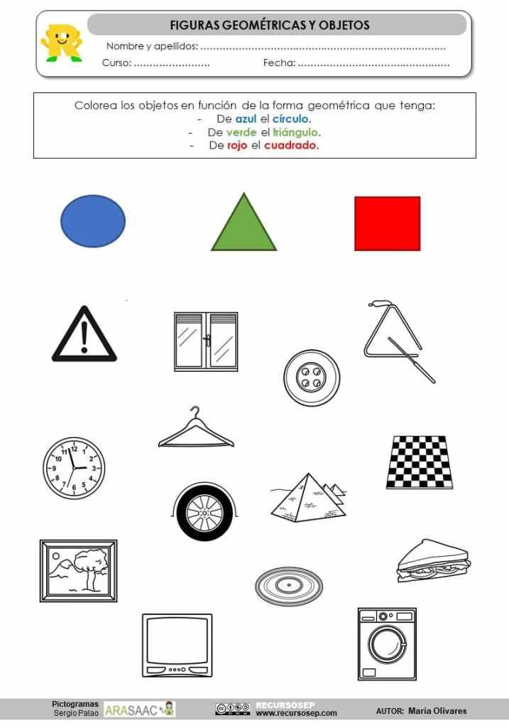 Relacionamos Figuras Geometricas Con Objetos Reales