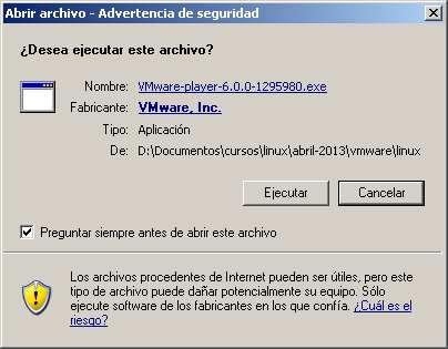 Inicio instalacion VMWarew player