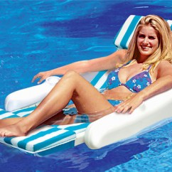 Pool Floating Lounge Chairs How To Make Dining Room Recreation Sunchaser Padded Luxury Chair