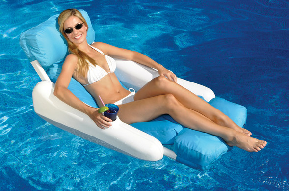 Pool Recreation  Floating Lounge Chairs  SunChaser
