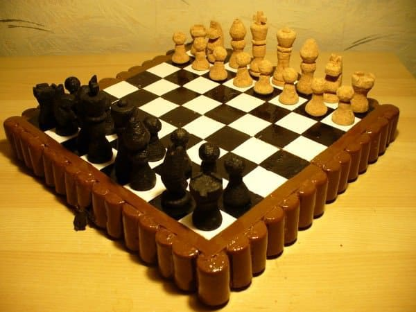 Chess Set Made Of Corks Recyclart