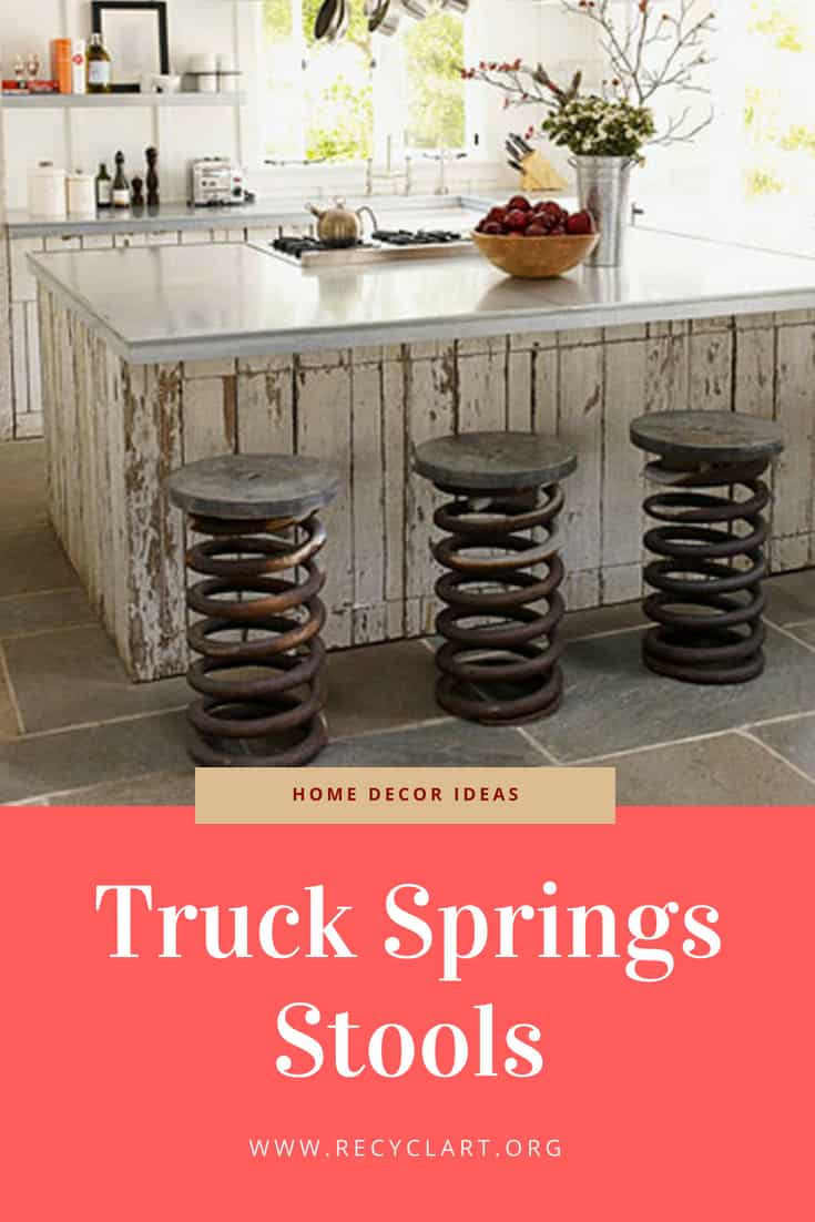Truck Springs Stools Recyclart