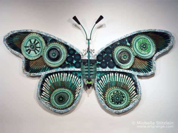 Butterfly Of The Trash By Michelle Stitzlein  Recyclart