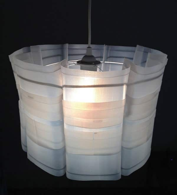 outdoor kitchen plans free flush mount lights upcycled plastic milk carton: milkflower lampshade • recyclart