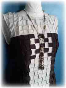 Upcycled Basket Weave - T-shirt Party Dress Recyclart