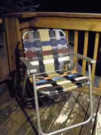 Refurbish An Old Folding Lawn Chair With Seatbelt Webbing ...