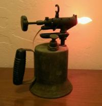 Vintage Gasoline Torch Lamp  Recyclart