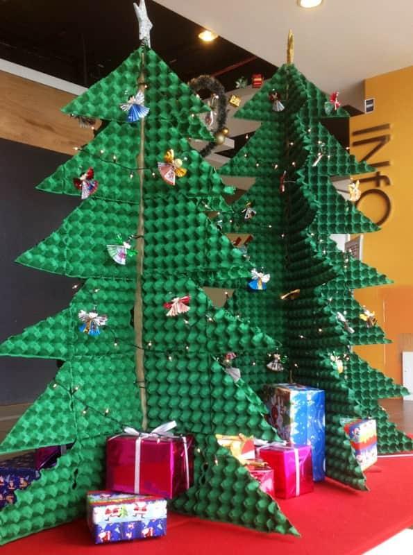 Wood Xmas Tree Ornaments