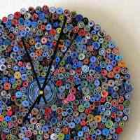 Recycled Paper Wall Clock  Recyclart
