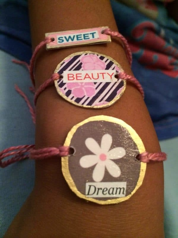 Recycled Giftcards into Friendship Bracelets  Recyclart