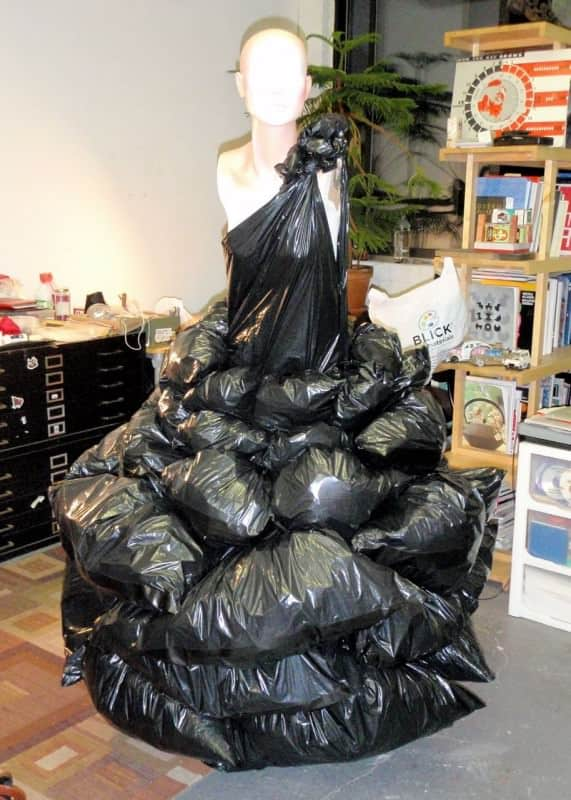 Garbage Dress by Robin Barcus  Recyclart