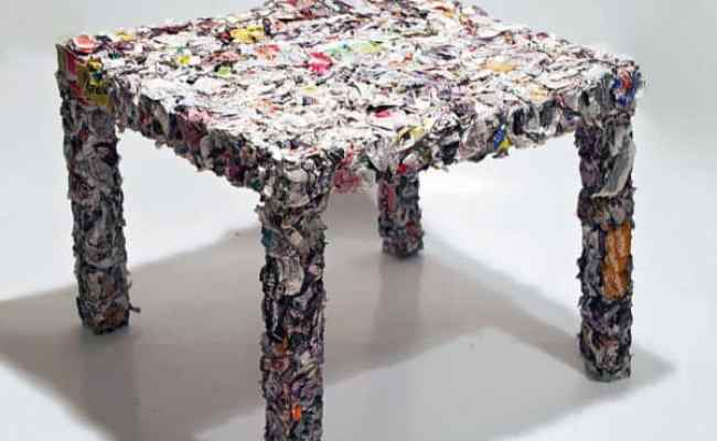 Table Made From Recycled Ikea Catalogue Recyclart