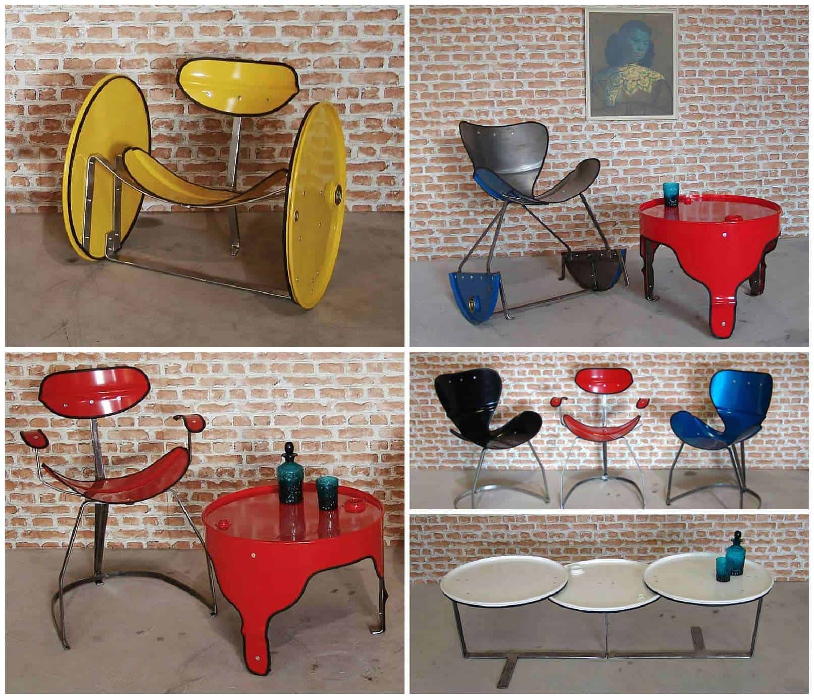 urbanite sofa bed ottoman brisbane oil drums upcycled into beautiful furniture by the