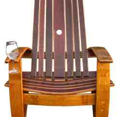 Wine Adirondack Chair Set Of Two Accent Chairs Oak Barrel  Recyclart
